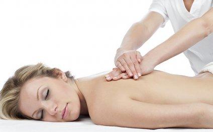 Close photo body massage