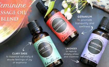 A Feminine Massage Oil Blend