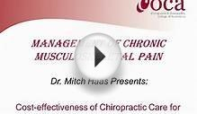 Cost-Effectiveness of Chiropractic Care for Chronic Low
