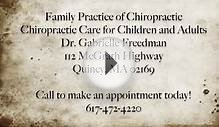 Infant receives chiropractic care in Quincy MA