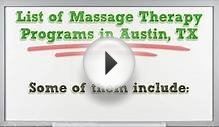 Massage Therapy Schools in Austin | TX Therapist Certification