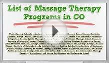 Massage Therapy Schools in Denver