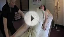 Swedish Body Massage Video 2 - Apply massage medium to